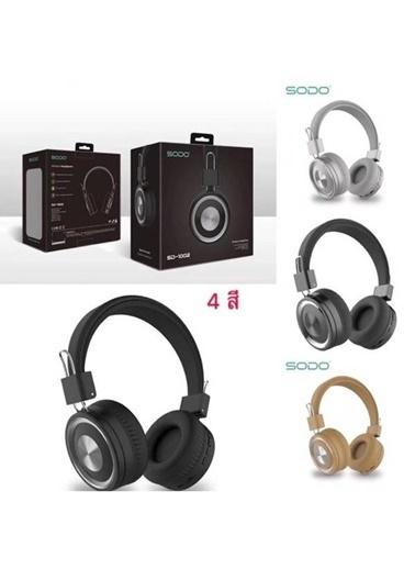 Sodo SD-1002 Mikrofonlu Bluetooth 5.0 Kulak Üstü Kulaklık Siyah